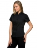 Womens BarShirt Mandarin Collar short sleeve.
